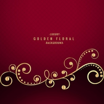Luxury red floral background