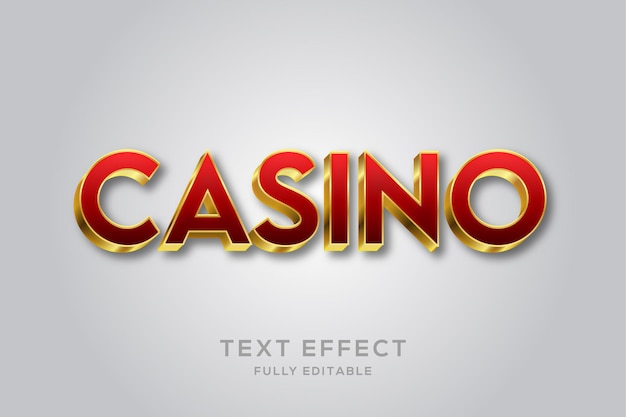 Luxury red and gold 3d text effect