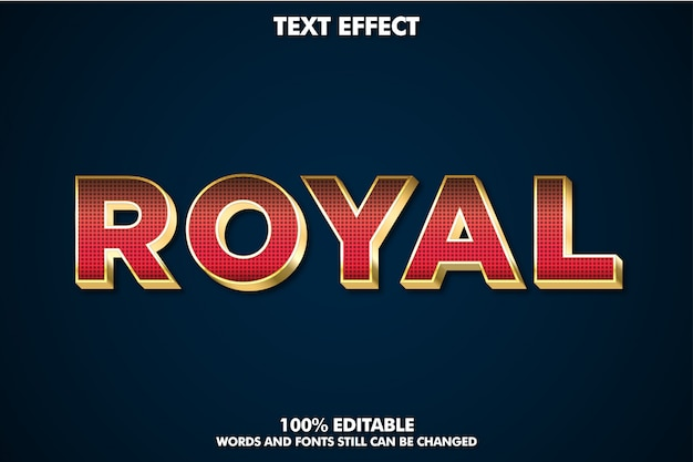 Luxury red and gold extrude text effect