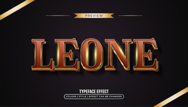 Luxury red and gold text  effect