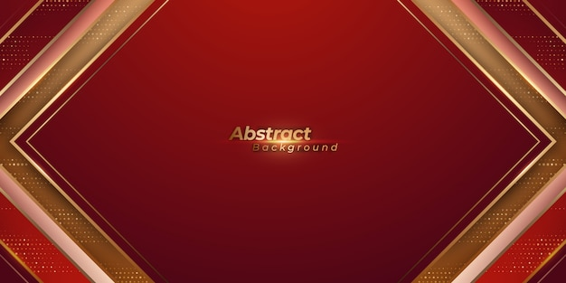 Luxury red and golden background