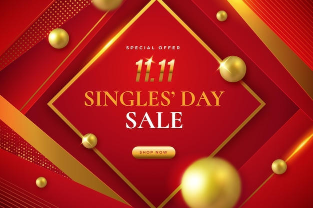 Luxury red and goldensingles' day