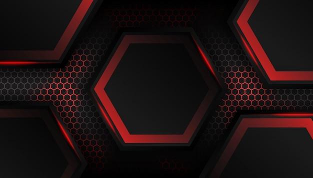 Luxury red hexagon background
