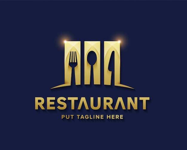 Luxury restaurant logo for business