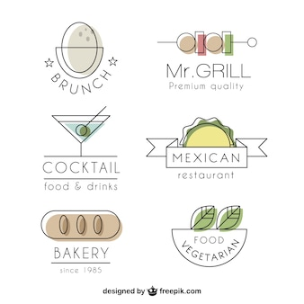 Luxury restaurant logo collection