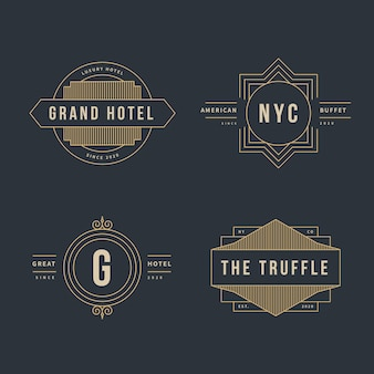 Luxury retro logo collection for different companies