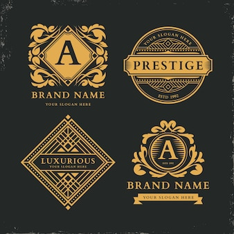 Luxury retro logo collection template