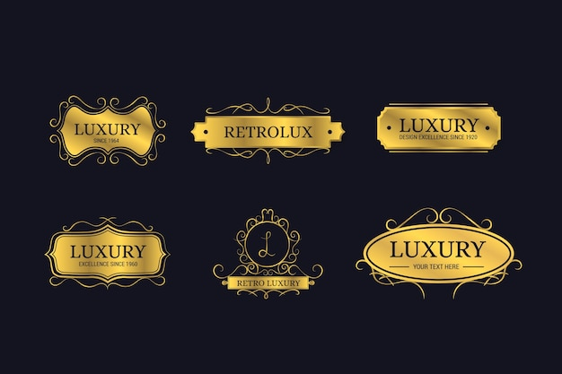 Luxury retro logo collection
