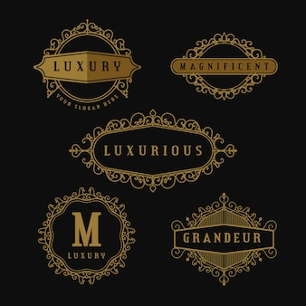 Luxury retro logo collection