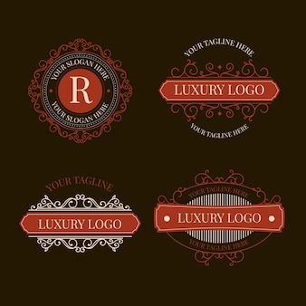 Luxury retro logo pack