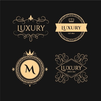 Luxury retro logo set