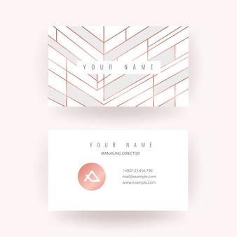 Роскошный дизайн визитной карточки из розового золота