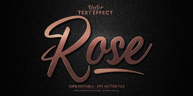 Luxury rose gold editable text effect