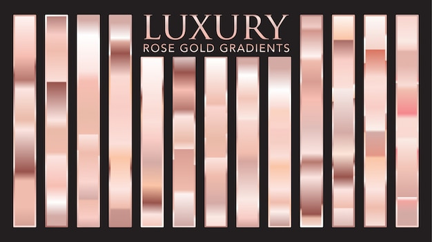 Luxury rose gold gradients