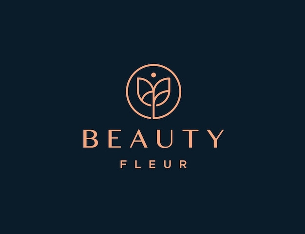 Роскошный логотип розы lineart