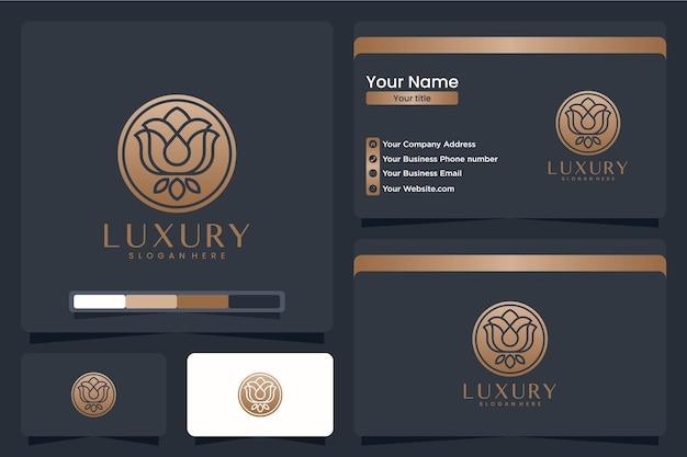 Роскошная роза, вдохновение для дизайна логотипа