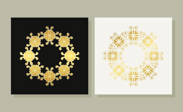 Luxury round border frame design