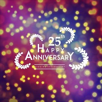 ラグジュアリーロイヤル25結婚記念日のイラスト