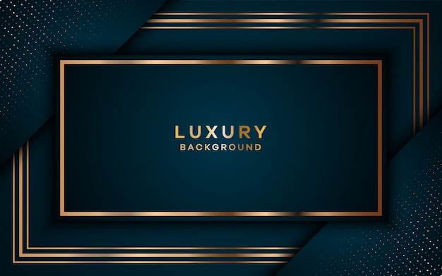 Luxury royal golden background with overlap layers.