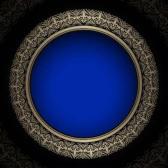 Luxury royal golden and blue backgrounds