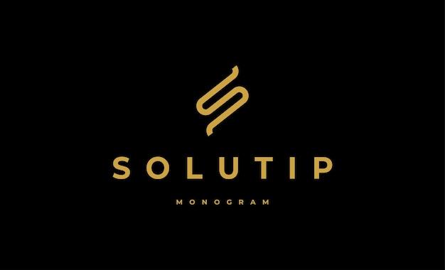 Luxury s logo monogram vector design
