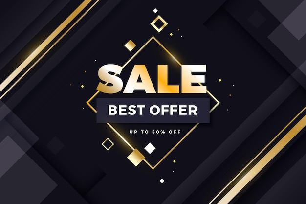 Luxury sale background best offer