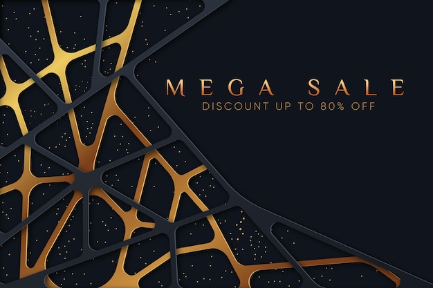 Luxury sale background with discount