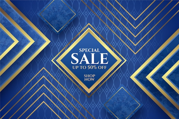 Luxury sale background with golden elements