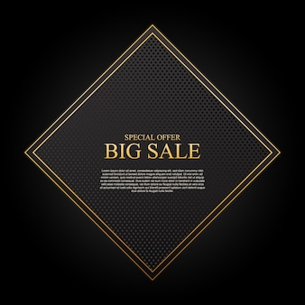 Luxury sale background with rectangle vector illustration