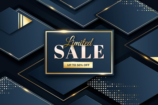 Luxury sale background with special discount