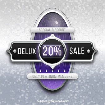 Luxury sale composition with realistic style
