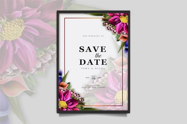Luxury save the date wedding invitation card