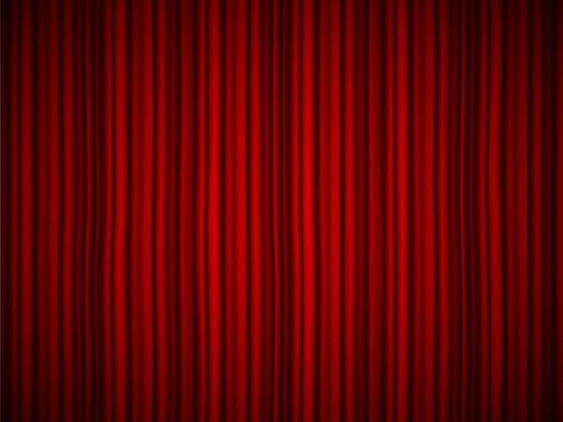 Luxury scarlet silk velvet drapes, backdrop fabric curtains