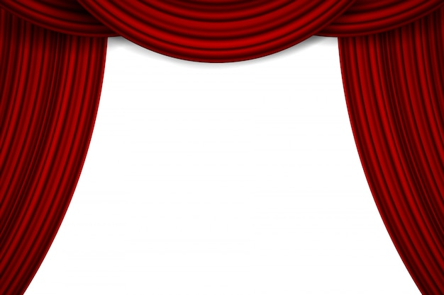 Luxury scarlet silk velvet drapes, fabric curtains