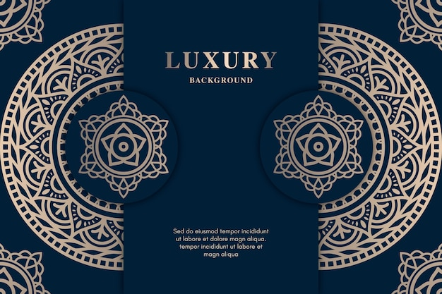 Luxury screensaver with beautiful mandala