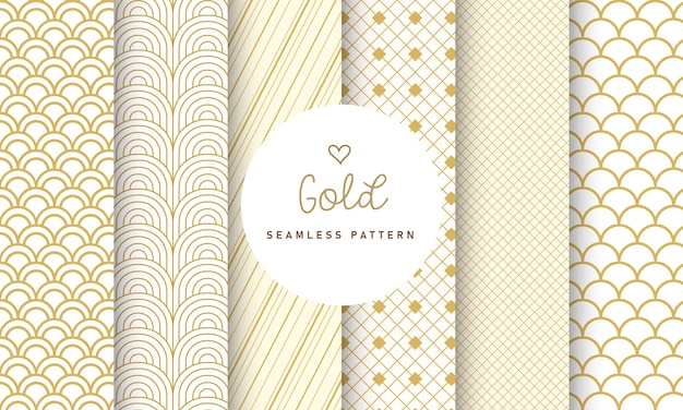 Luxury seamless pattern collection.