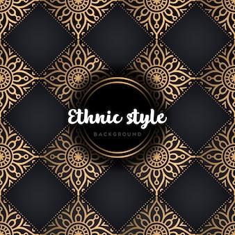 Luxury seamless pattern mandala