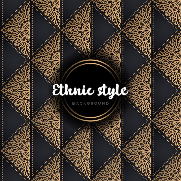 Luxury seamless vector pattern gold and black