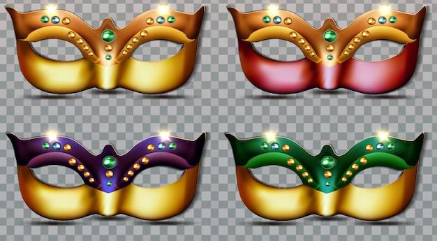 Luxury set collection mardi gras masks
