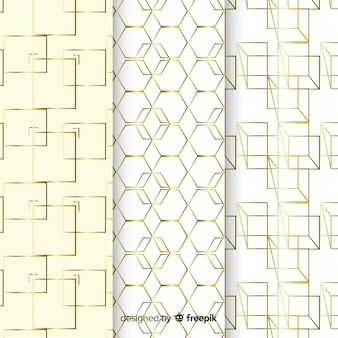 Luxury shapes pattern collection background
