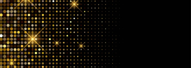 Luxury shiny golden glitters banner