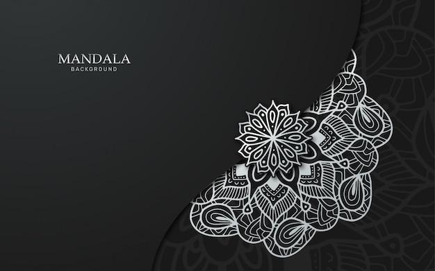 Luxury silver mandala background
