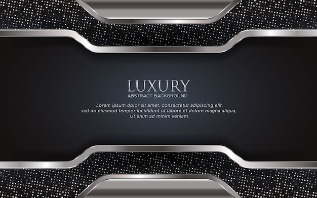 Luxury silver template background with glitter