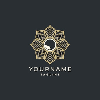 Luxury simple mandala logo design