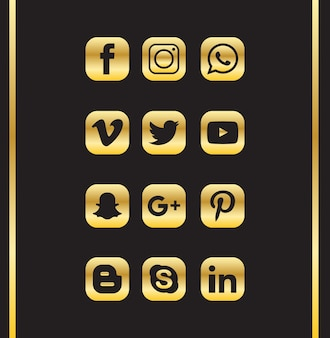 Luxury social media icon