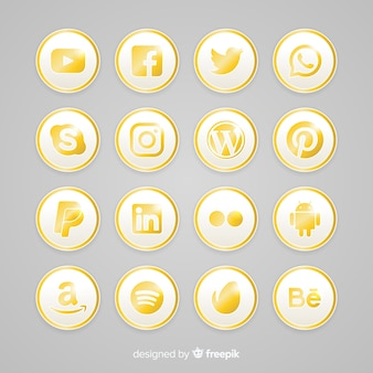 Luxury social media logo collection