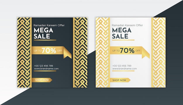 Luxury special offer sale web banner template