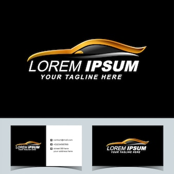 Luxury sport car automotive logo