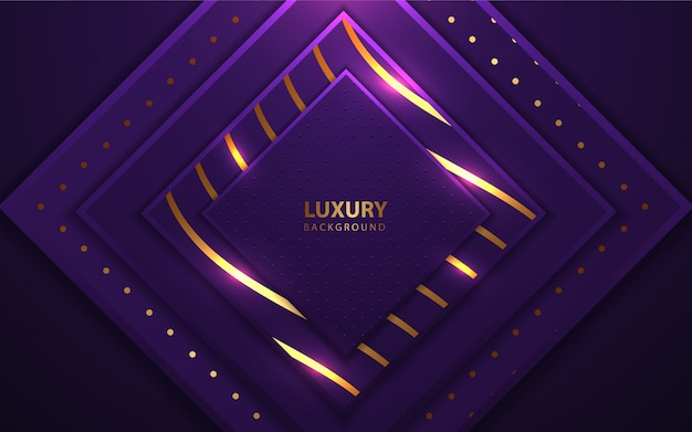 Luxury square layers frame with glitters element