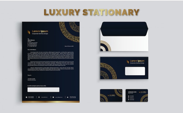 Luxury stationary template